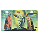 Jesus Pattern Decorative Aluminum Alloy Car License Plat