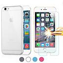 mr.northjoe® 2 i en ultratunn tpu tillbaka fallet + härdat glas skärmskydd för iPhone 6 (blandade färger)