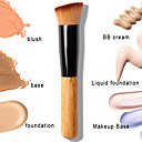 1 pcs pinceau à poudre de haute qualité poignée en bois multifonctions outil pinceau blush masque pinceau fond de teint