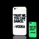 Phrase Pattern Glow in the Dark Hard Case for iPhone 5 / iPhone 5 S