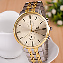 Buy Men's Fashion Eyes Calendar Gold Quartz Analog Steel Belt Watch(Assorted Colors) Cool Watch Unique