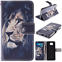 The Lion Design PU Leather Stand Case with Card Slot for Samsung Galaxy Alpha G850F G8508