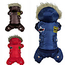 PethingTM USA Top Gun Style Warm Coat with Hoodies and Pants for Dogs