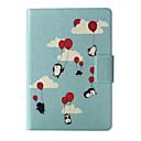 Luftballons Pinguin-Muster-Leder Ganzkörper-Fall mit Standplatz und Kartensteckplatz für Kindle Paperwhite / kindle paper 2