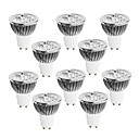 10 pcs GU10 4 W 4 High Power LED 320 LM Warm White / Cool White / Natural White Dimmable Spot Lights AC 220-240 V