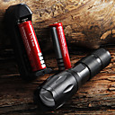 Lanterna de LED  E17 CREE XM-L T6 2000 lumens de Alta potência com Zoom, acompanha 2 baterias e Carregador.