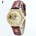 Buy Women's Round Dial Leather Strap Automatic self-winding Watch Wrist (Assorted Colors) Cool Watches Unique Fashion