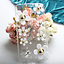 Fashion Diagonal Transparent shell Daisy Case Bowknot Pattern Rhinestone Case for S5+