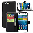 Buy Huawei Case Wallet / Card Holder Stand Flip Full Body Solid Color Hard PU Leather G7