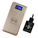 PW-12000-SAM 12000mAh Mobile Power Bank External Battery with Wireless Charger for Samsung /Mobile Device(Gold/Silver)