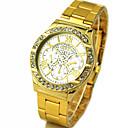 Buy Men's Gold Round Dial Alloy Band Quartz Analog Wrist Watch Cool Unique