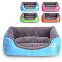 fargerik stilige kjæledyr hus 50 x 40cm firkantet rektangel pet seng for hunder&katter (assorterte farger)