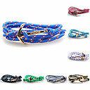 2015 New High Quality Jewelry Navy Viking Risers Anchor Bracelet For Men Women