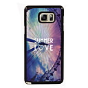 Summer Love Design Slim Metal Back Case for Samsung Galaxy Note 3/Note 4/Note 5/Note 5 edge