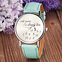 Women's Fashion Style Leather Band Quartz Analog Wrist Watch (Assorted Colors)