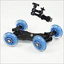 chariot de caméra curseur patineur stabilisateur de camion professionnel des roues table de DSLR pour 5d2 eos vidéo 7 pouces mains