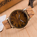 Buy Unisex Watches Wood Grain Wrist Watch Synthetic Leather Strap Man Women Anniversary Gifts Cool Unique Fashion