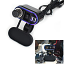 Buy 12V-24V Waterproof Car Motorcycle Dual Socket Charger USB Power Adapter