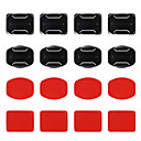 4 x Flat Mounts & 4 x Curved Mounts with Adhesive Pads for Gopro Hero 4/3+/3/2/1/sj4000/sj5000/sj6000