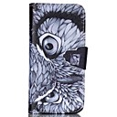 Buy Owl Eyes Pattern PU Leather Full Body Case Card Slot Stand iPhone 5C