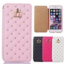 Buy 2015 New Queen's Crown Grid Pattern PU Leather Cover iPhone 5/5S(Assorted Colors)