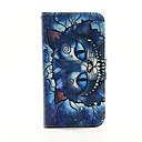 motif de chat bleu PU cas de téléphone en cuir pour Samsung Galaxy S3 9300/9500 S4 / S5 9600