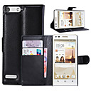 Buy Huawei Case Wallet / Card Holder Stand Flip Full Body Solid Color Hard PU Leather HuaweiHuawei Honor 6 Plus