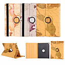 World Map 360⁰ Case Design Stand Function High Quality PU Leather Bag For iPad 4/3/2(Assorted Color)