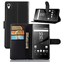 Buy Fashion Leather Dirt-resistant Flip Wallet Cover Case Sony Xperia Z5 Capa Phone