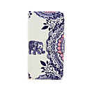 Buy Elephant Pattern PU Leather Full Body Case Card Slot Stand iPhone 5C