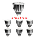 6 pcs GU4 4 W X SMD 2835 300 LM 3000K K Warm White MR11 Spot Lights DC 12/AC 12 V