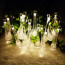 re ro 6.5m 30led waterdrop cristallo di figura solare giardino luci di Natale