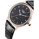 Buy Men's Fashion Genuine Leather Water Resistant Quartz Watches Wrist Watch Cool Unique