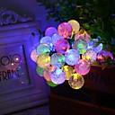 konge ro sol 19.7ft 30led christmas ball lys udendørs vandtæt string lys
