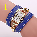 Buy Woman's Watches New Student Belt Candy Color Winding Watch Fashion Trend Rectangle Woman Bracelet Table Cool Unique