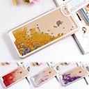 forma transparente dinâmico líquido brilho colorido paillette areia movediça tampa traseira para o iPhone 5 / 5s