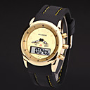 Buy Mens Watches Leather Led Digital Military Gold Montre Homme Wrist Watch Cool Unique Fashion