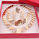 Buy Gold-plated Fashion romantic heart line(Including Necklace, Earring, Bracelet, Ring) Jewelry Sets