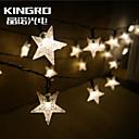 re rosolar stringa 6.5m forma stella 30led partito decorazioni di Natale lampeggianti all'aperto lucine impermeabili