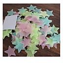 100pcs enfants chambre des enfants étoiles fluorescentes de style pentagramme collante de stickers décoratifs