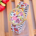 Buy Woman's Watches New Fashion Love Pattern Elastic Watch Cool Unique