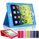 Litchi Soft Artificial Leather Cover With Auto Sleep Wake Up For Apple iPad Air Magnetic Flip Case (Assorted Colors)