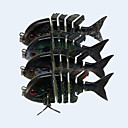 Buy Hot 2.2'' 5 Grams Panfish Swimbait 3D Eyes Multi-jointed Fishing Lures New Baitfish