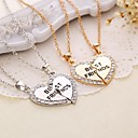 Buy Heart Shape Best Friends Rhinestone Pendant Necklace(2pcs/set)