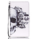 Buy Full Body Wallet / Card Holder Stand Skull PU Leather Hard Case Cover Huawei P8 Lite