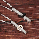 Buy Love Zirconium Titanium Steel Drill Couple Necklace Gift Best Friends Necklaces