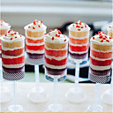 10PCS Push Up Containers With Lids Push Cake Tube Empty Cupcake Shooters with Lid