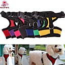 FUN OF PETS® Adjustable Comfort Soft Breathable Dog Harness Pet Vest Rope Dog Chest Strap Leash Set Collar Leads Harness