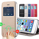 Buy Solid Color Capa PU Leather + Tpu Smart Sliding Answer View Window Flip Full Body Case iPhone 5C Kickstand