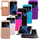 KARZEA™ Diamond Pattern TPU and PU Leather Case with Stand for Samsung Galaxy S7/S7 edge (Assorted Colors)